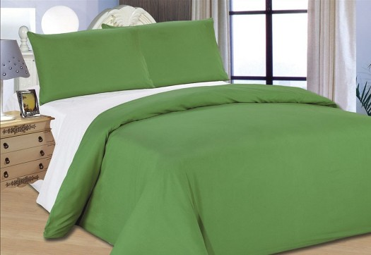 Bed Cover Summer Green White